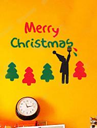 decorazione della parete adesivi vacanza ornamenti bambini e gli alberi