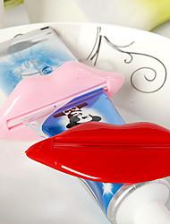 lábios favor espremedor de pasta de dente (conjunto de 6)