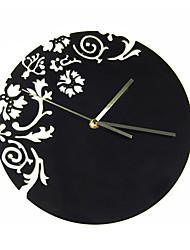 Horloge murale en acrylique floraux mute