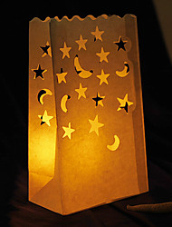 Wedding Décor Moon & Star Shaped Cut-out Paper Luminary