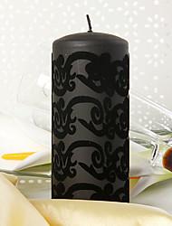 Thème de jardin Favors Candle Piece / Set Bougies Non personnalisé Noir