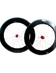 88mmcarbon clarividente tubular de fibra de ruedas de bicicleta carretera con la serie N