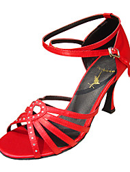Customize Performance Dance Shoes Satin Upper Latin Shoes for Women