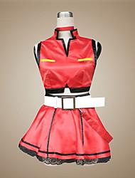 Inspirado por Vocaloid Meiko Vídeo Jogo Fantasias de Cosplay Ternos de Cosplay / Vestidos Patchwork Vermelho Sem MangasCasaco / Saia /