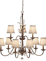 Stylish Crystal Chandelier with 9 Lights in Classy Style