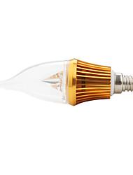 Lâmpada Vela Decorativa E14 3 W 300 LM K Branco Quente 3 LED de Alta Potência AC 85-265 V CA
