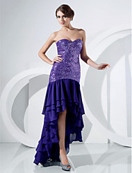 Trumpet/ Mermaid Sweetheart Asymmetrical Chiffon Evening/Prom Dress