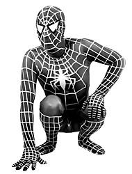 Ternos Zentai Super-Heróis / Aranhas / Fantasias de Filme e Tema de TV Fantasia Zentai Fantasias de Cosplay Preto Estampado / Patchwork