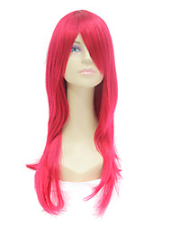 Capless Long Red Synthetic Hair Wig