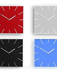 simples acryliques colorées nouveauté Horloge murale mute