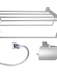 alumínio 4-parte acessório do banheiro (1041-les-6600 +6601 +6608 +6609)