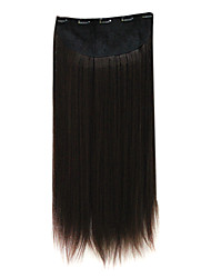 100%  Heat Friendly Synthetic Silky Straight Clip In Hair Extensions