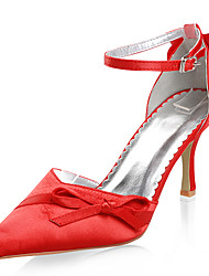 Satin Upper High Heel Closed-toes Special Occasion Shoes More Colors Available