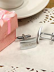 Gift Groomsman Personalized Slender Cufflinks