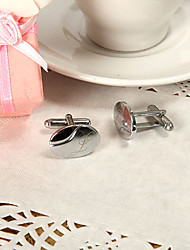 Gift Groomsman Personalized Elegant Oval Cufflinks