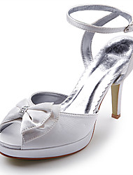 Women's Spring Summer Fall Platform Satin Wedding Stiletto Heel Platform