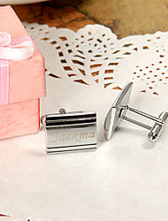 Gift Groomsman Personalized Rectangle Cufflinks