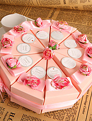 Pink Cake Favor Box (Set of 10)