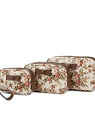 Light Flower Garden Make Up Bag Set (More Colors)