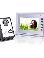 7 Inch Color TFT LCD Video Door Phone with Squared Waterproof Camera (420 TVL)