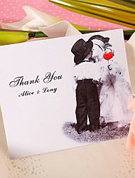 Thank You Card - Cute Kiss (Set of 50)