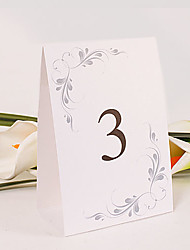 Place Cards and Holders Personalized Standing Table Number Card – Simple Elegance (Set of 10)