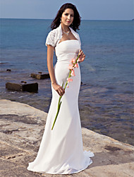 LAN TING BRIDE Trumpet / Mermaid Wedding Dress - Chic & Modern Elegant & Luxurious Wedding Dress with Wrap Two-in-One Sweep / Brush Train