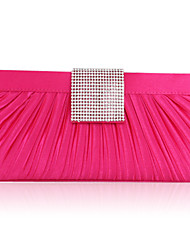 Satin with Crystal/Rhinestone Evening Handbags/Clutches