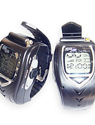20 Channels Sliver Wrist Watch Style Walkie Talkie with Big Backlight LCD Screen