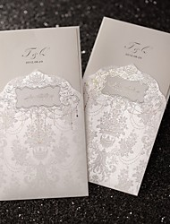 Wedding Invitation Regal Luxury Folded In Ivory(Set of 50)