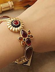 Precious Stones Gold Bracelet