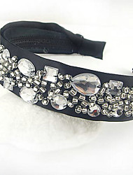 Headband With Beading And Faux Gems