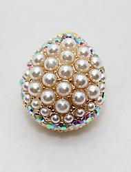 Teardrop Pearl Beaded Earrings