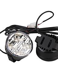 voiture éclairage diurne (2 pcs, 4 LED, lumière blanche, imperméable)
