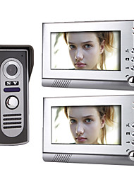 7-Zoll-TFT-LCD-Video-Türsprechanlage System (1 Kamera mit 2-Monitor)