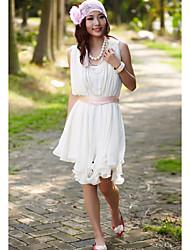 Mantel / Spalte scoop Riemen knee-length/dress