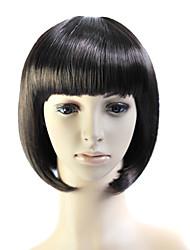 sin tapa bob estilo 100% del calor amigable peluca de fibra de pelo liso