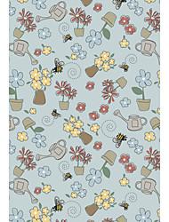 Шерсть крючковатый ковры области с цветущими узором