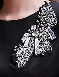 Preppy Chic Crystal Chain Brooch
