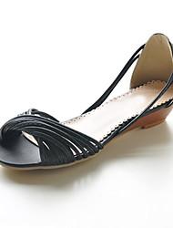 Flat Leatherette Twist Strap Sandals (More Colors)