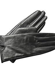 de alta qualidade em preto partido couro / inverno luvas