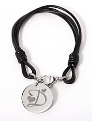 Personalized Bracelet With Circle Charm