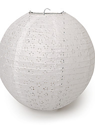 "Wedding Décor 12"" White Eyelet Paper Lantern"