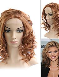 llena del cordón (cordón francés) peluca 100% humano remy del pelo annaylynne McCord estilo de pelo