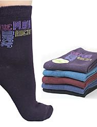 Women's Jacquard Cotton Tube Socks (12 pairs)