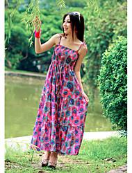 Chiffon Square Neck Maxi Dress With Spaghetti Straps (More Colors)