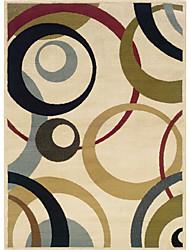 хохолком шерсти ковры области с круг шаблон 3 '* 5'