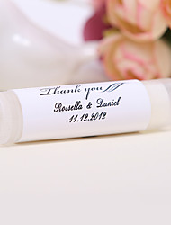 Personlized Lip Balm Tube Favors - Thank You (Set of 12)