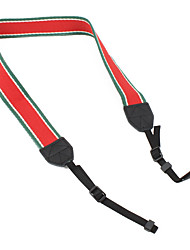 Colorful Camera Strap for SLR (Red and Green)