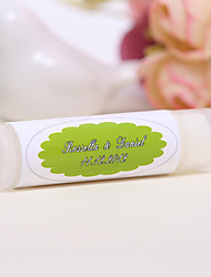 Personlized Lip Balm Tube Favors - Green (Set of 12)